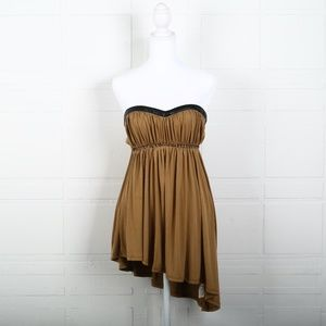 Free People Brown Tube Mini Party Dress